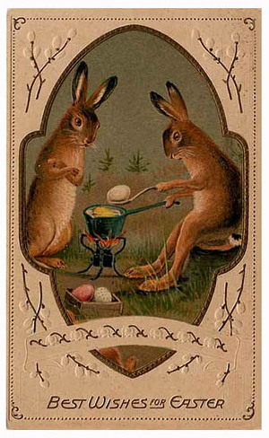 Creepy Easter: Rabbits Eating Embryos Part 2. Egg_eating_rabbit_4
