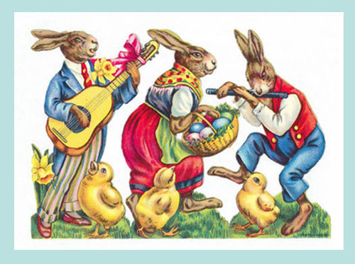 Musical Rabbits: Guitar and Flute