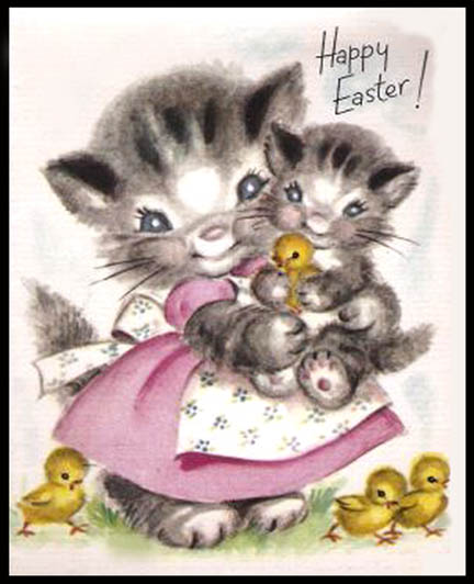 Creepy Easter: Hungry Kittens Again