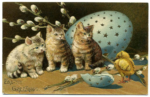 Creepy Easter: More Hungry Kittens