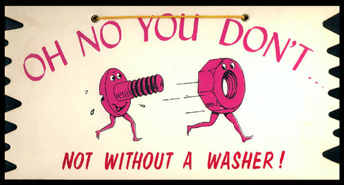 Tacky Plax: Not Without A Washer!