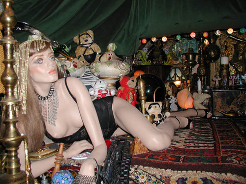 Lady in the harem room
