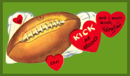 Vintage Valentines: Kick me around