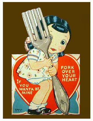 Vintage Valentines: Fork You