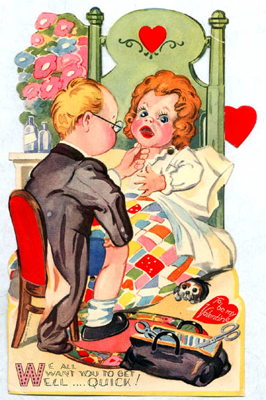offensive valentines day memes - Vintage Valentines Creepy Doctor and Blow Up Doll Vintage