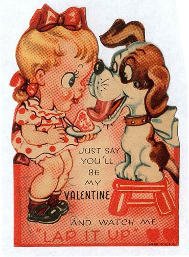 Vintage Valentines: Lap it up
