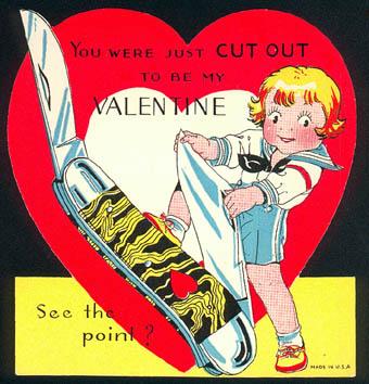 Vintage Valentines: Jumbo Jack Knife